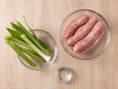 食譜-香烤蒜苗香腸