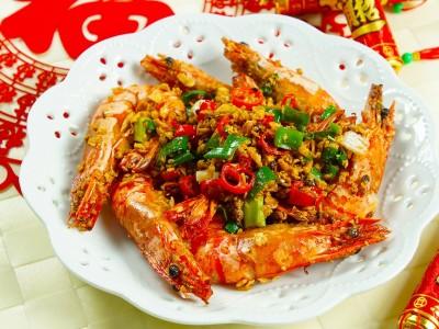 食譜-避風塘炒蝦