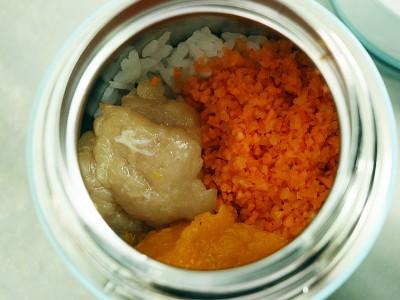 食譜-南瓜雞肉粥