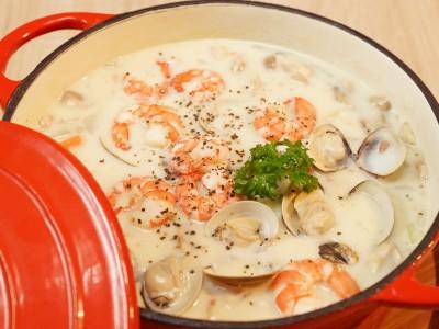 食譜-海鮮巧達濃湯