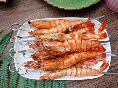 食譜-氣炸香蒜奶油蝦&氣炸綜合串燒【氣炸烤箱料理】