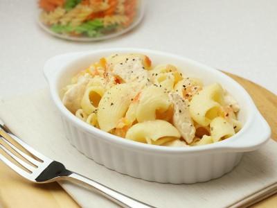 食譜-白醬番茄雞肉義大利麵