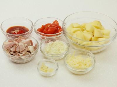 食譜-焗烤培根蕃茄佐馬鈴薯