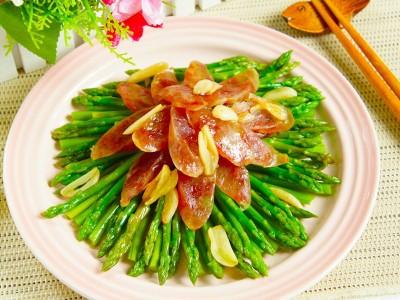 食譜-蘆筍炒臘腸