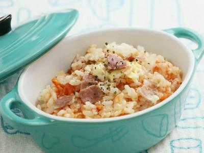 食譜-番茄培根起司飯