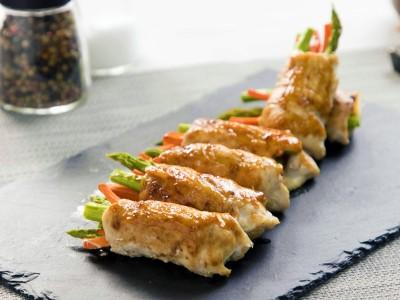 食譜-醬烤蘆筍雞肉捲
