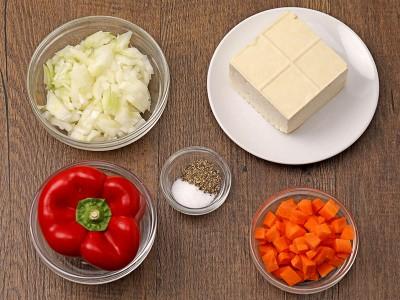 食譜-甜椒鑲豆腐