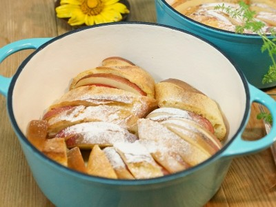 食譜-烤蘋果佐法國土司
