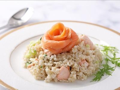 食譜-鮭魚奶香糙米燉飯