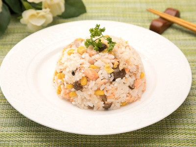 食譜-和風奶油鮭魚飯