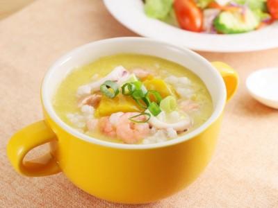 食譜-南瓜海鮮粥
