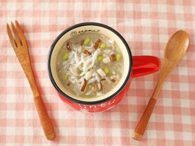 食譜-吻仔魚鮮蔬豆腐粥