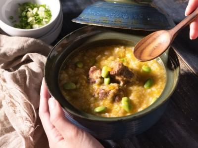 食譜-南瓜野菜排骨粥