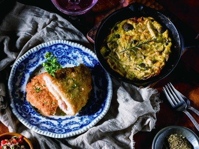 食譜-藍帶豬排+野菇烘蛋