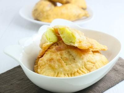 食譜-水餃皮變身地瓜餅