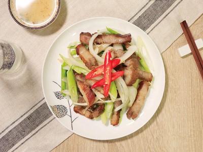 食譜-蒜苗鹹豬肉