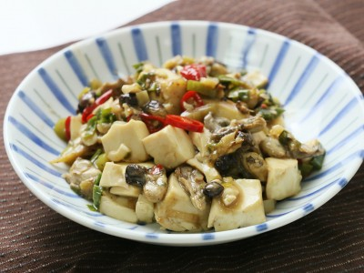 食譜-豆鼓蚵仔燒豆腐