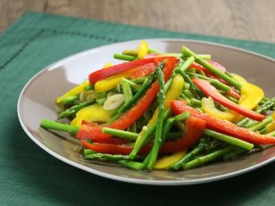 食譜-蘆筍炒雙椒