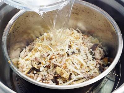 食譜-竹筍香菇鹹粥