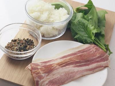 食譜-培根菠菜小飯糰