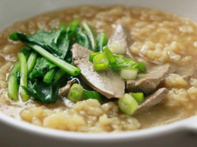 食譜-菠菜豬肝粥
