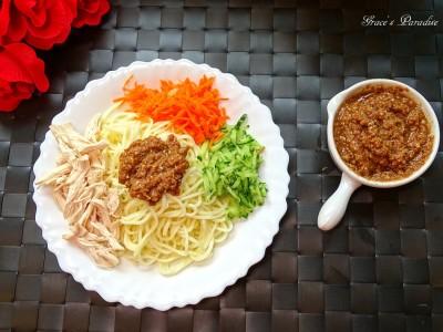 食譜-清涼開胃涼麵佐滿滿芝麻醬