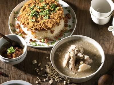 食譜-米糕與四神排骨湯