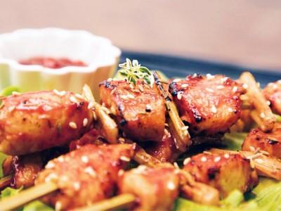 食譜-韓式雞肉串燒