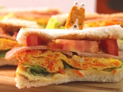 食譜-【阿芳廚房】外酥內軟 早餐三明治