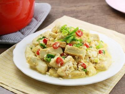 食譜-金沙豆腐