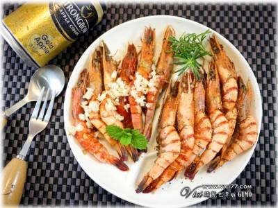 食譜-【2分鐘快速上菜】無水料理-雙味烤蝦(奶油蝦+胡椒蝦)