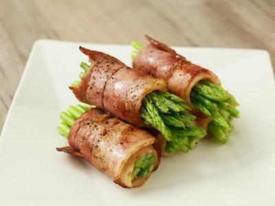 食譜-蘆筍培根捲