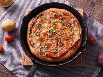食譜-培根青醬披薩