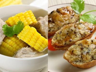 食譜-玉米排骨湯+豆皮白菜包(一鍋二菜)