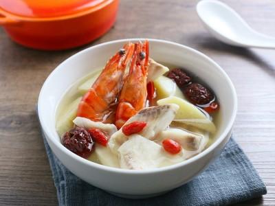 食譜-山藥海鮮湯