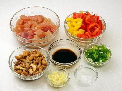 食譜-腰果甜椒炒雞丁