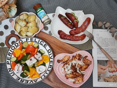 食譜-一機搞定一餐的三層料理【氣炸烤箱料理】