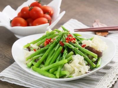 食譜-蘆筍拌雙耳
