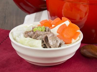 食譜-無水鮮蔬牛肉豆腐鍋