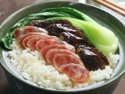 食譜-港式臘味飯+苦瓜釀肉(一鍋二菜)