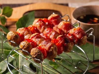 食譜-串燒肉丸子