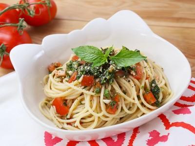 食譜-番茄九層塔冷麵