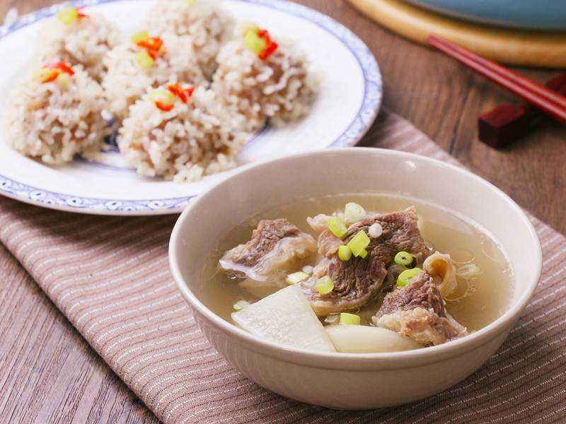 食譜-清燉牛肉湯+珍珠丸子(一鍋兩菜)