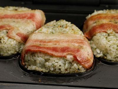 食譜-日式培根烤飯糰