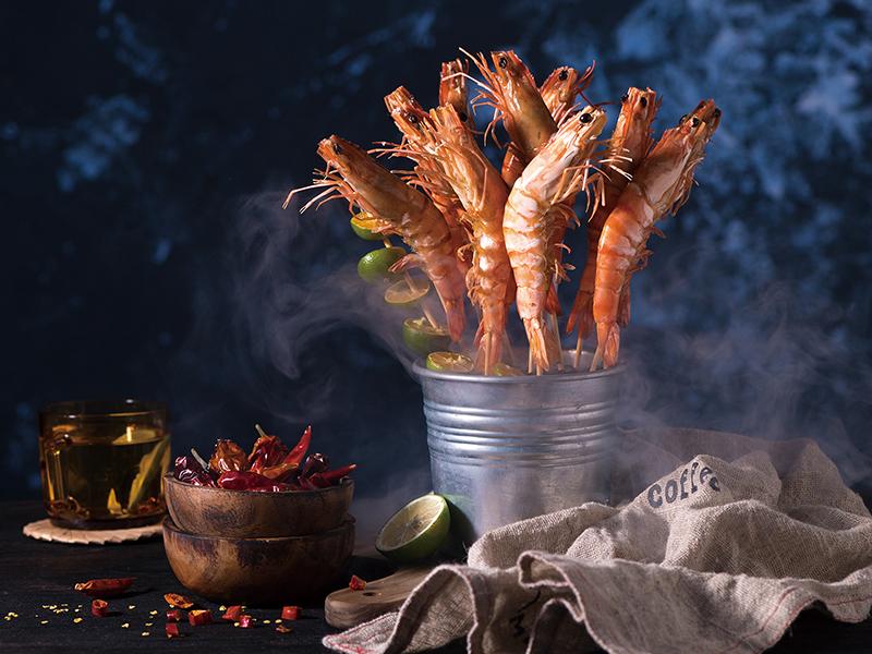 食譜-鹽焗鮮蝦